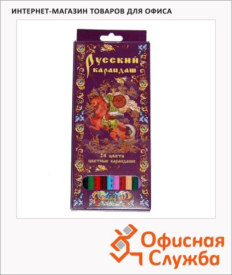 Набор цветных карандашей Русский Карандаш 24 цвета, СК037/24