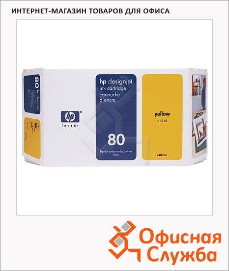 Картридж струйный Hp 80 C4873A, желтый