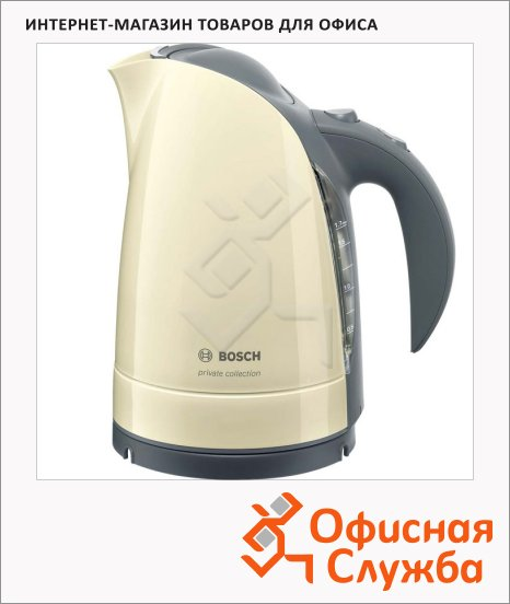 Чайник электрический Bosch Private collection TWK6006N бежевый, 1.7 л, 2400 Вт