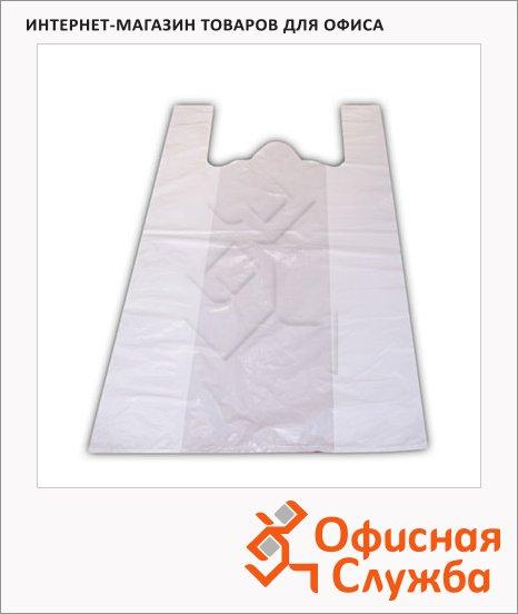 Пакет Майка ПНД 25х12х45см, 12мкм, 100 шт/уп, белый