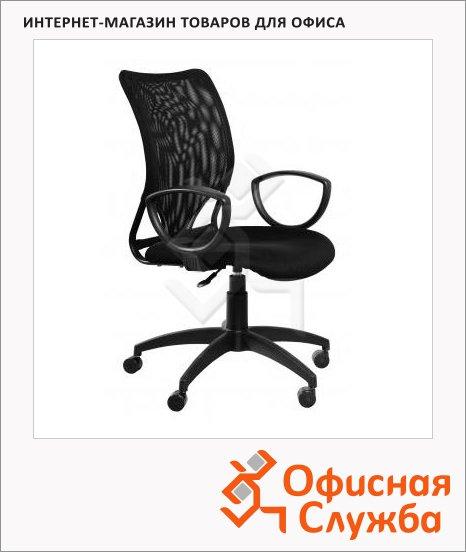 фото: Кресло руководителя Бюрократ CH-599AXSN ткань черная, TW, крестовина пластик