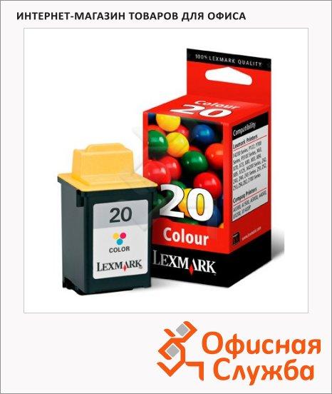 Картридж струйный Lexmark 20 15M0120, трехцветный