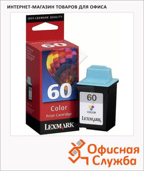 Картридж струйный Lexmark 60 17G0060, трехцветный