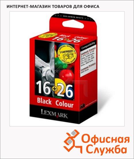 Картридж струйный Lexmark 80D2126, черный+трехцветный, 2шт/уп