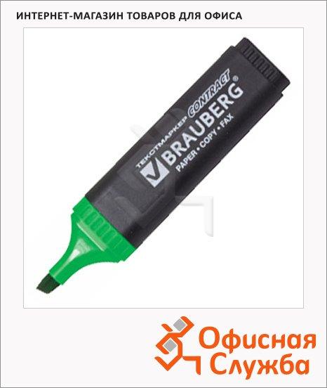 фото: Текстовыделитель Brauberg Contract зеленый 1-5мм, скошенный наконечник, 150390