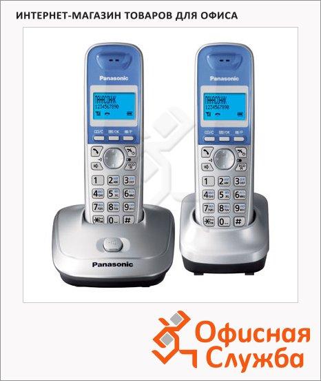 Радиотелефон Panasonic KX-TG2512RUS платиновый, 2 трубки