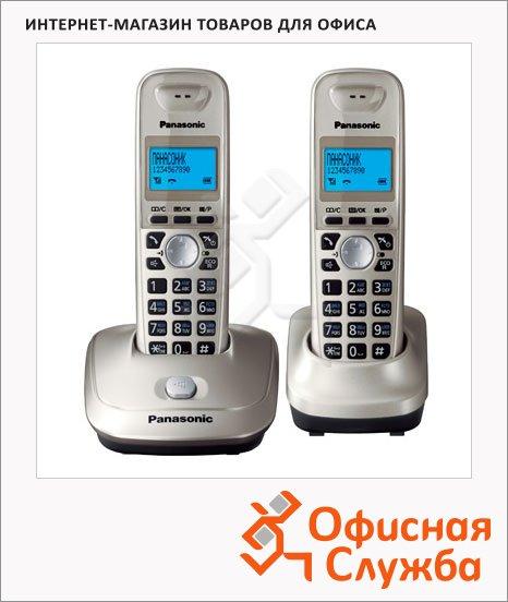 Радиотелефон Panasonic KX-TG2512RUS серебристый, 2 трубки
