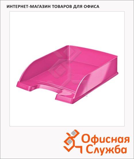 фото: Лоток горизонтальный для бумаг Leitz Wow А4 розовый, 52263023