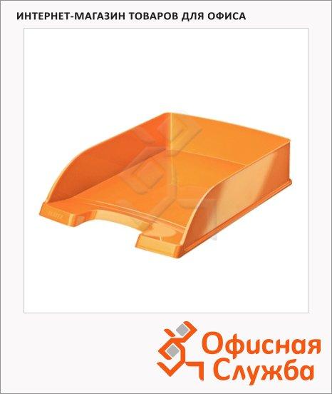 фото: Лоток горизонтальный для бумаг Leitz Wow А4 оранжевый, 52263044