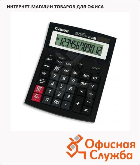 фото: Калькулятор настольный Canon WS-1410T черный 14 разрядов, бухгалтерский