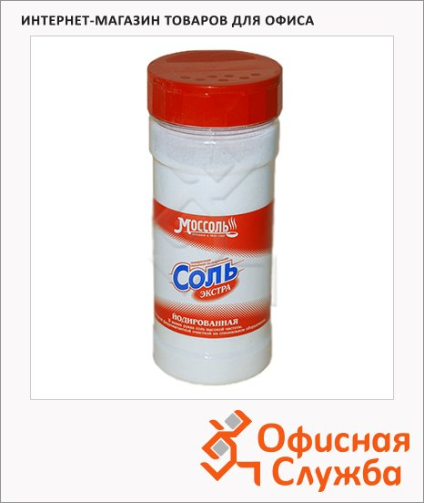 Соль Моссоль в солонке, йодированная, 250г