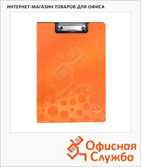 Клипборд с крышкой Leitz Bebop оранжевая, А4, 39620045