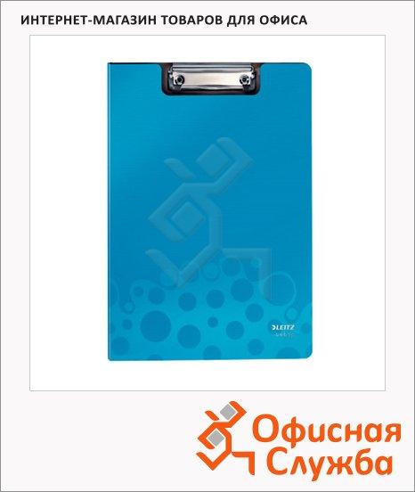 Клипборд с крышкой Leitz Bebop синяя, А4, 39620037