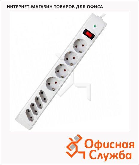 фото: Сетевой фильтр DFS 303 8 розеток 3м, белый