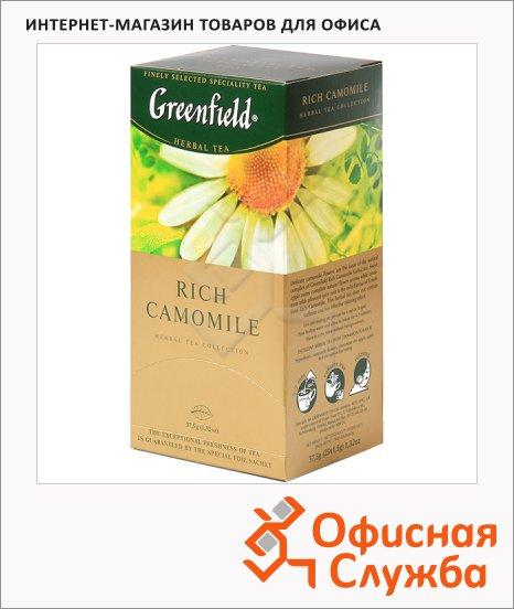 фото: Чай Greenfield Rich Camomile (Рич Камомайл) травяной, 25 пакетиков