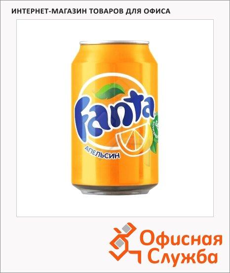 Напиток газированный Fanta апельсин 0.33л, ж/б