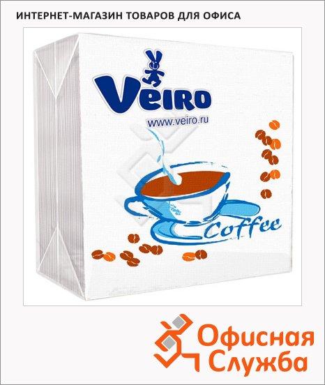 фото: Салфетки сервировочные Veiro белые с рисунком