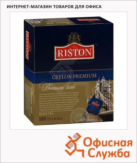 фото: Чай Riston Premium Ceylon черный, 100 пакетиков