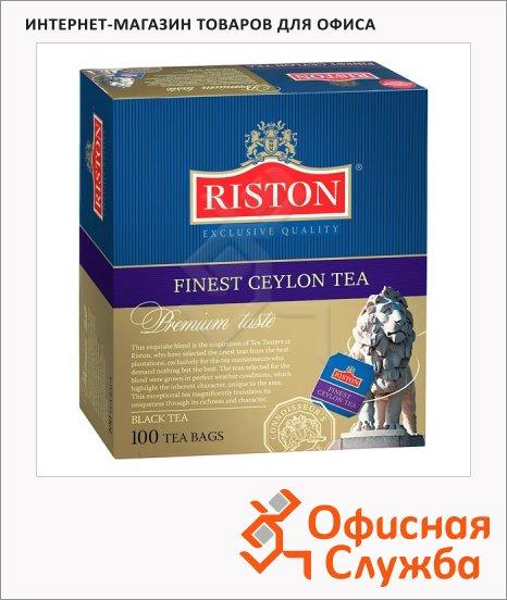 фото: Чай Riston Ceylon черный, 100 пакетиков
