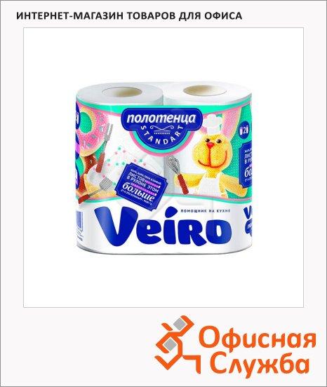 Бумажные полотенца Veiro Standart белые, 2 слоя, 2 рулона