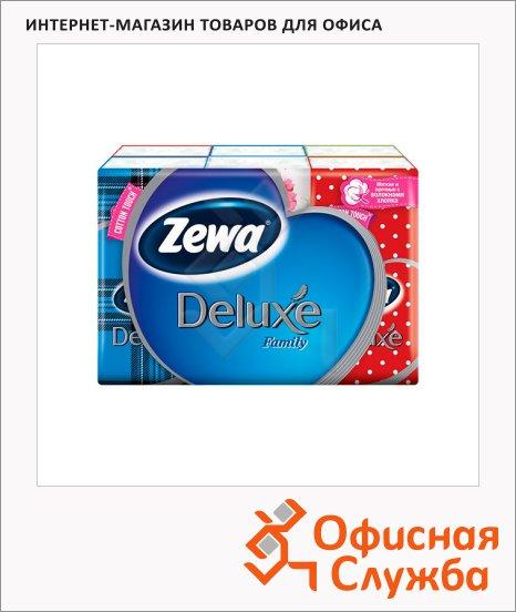 Носовые платки Zewa Deluxe 6уп х 10шт, 3 слоя