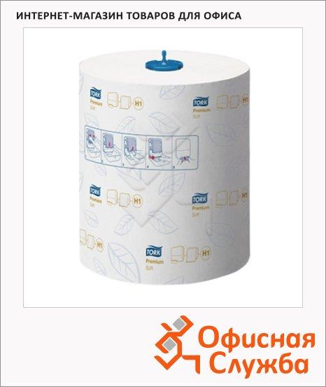 Бумажные полотенца Tork Premium H1, 290016, в рулоне, 100м, 2 слоя, белые