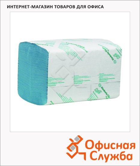 Бумажные полотенца Kimberly-Clark Scott Extra 6682, листовые, 240шт, 1 слой, голубые
