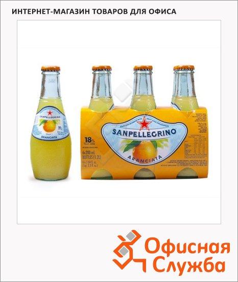 фото: Напиток газированный Sanpellegrino Limonata апельсин 200мл, стекло