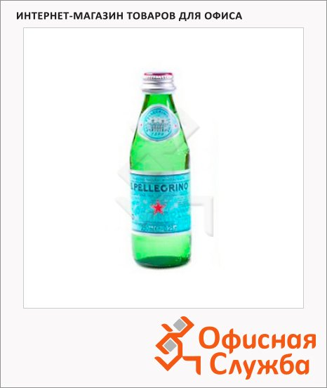 Вода минеральная Sanpellegrino газ, стекло, 0.25л