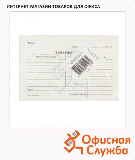 фото: Бланк товарный чек А6 97х134 мм, пустографка, 5кн.х100 листов