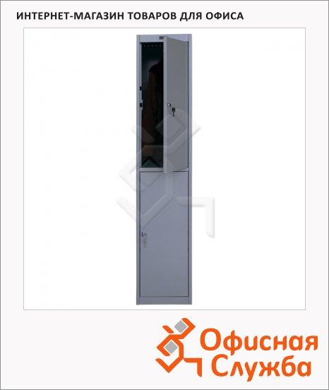 Шкаф для одежды металлический Практик AL-002 1830х360х590мм