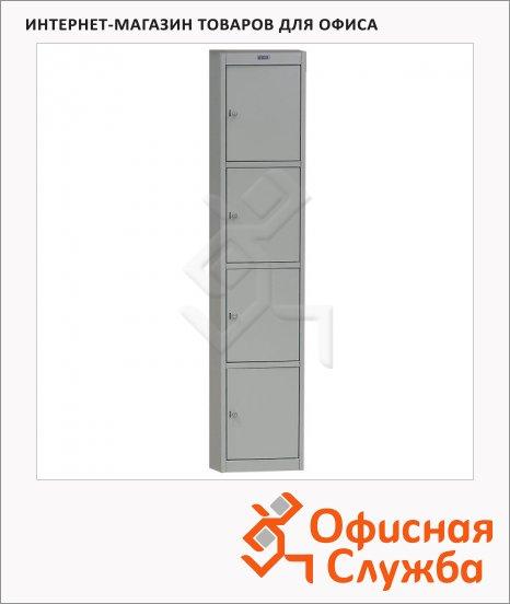 Шкаф для одежды металлический Практик AL-04 360х1830х590мм, 4 секции