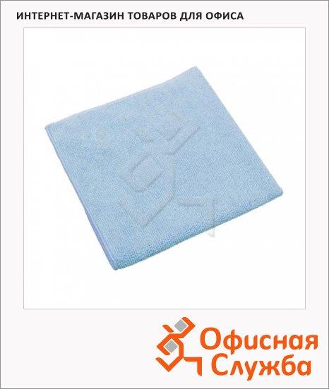 фото: Салфетка хозяйственная Vileda Pro МикроТафф Плюс 38х38см голубая, 111958