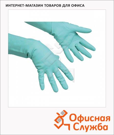 фото: Перчатки резиновые Vileda Pro многоцелевые M зеленые, 100756