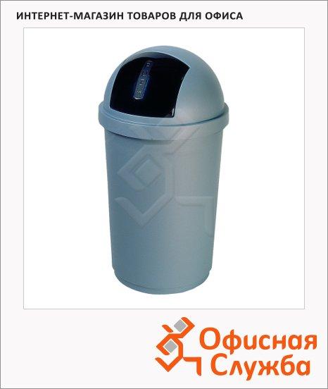 фото: Контейнер для мусора пластиковый Bullet Bin серебристый 50л, 3930