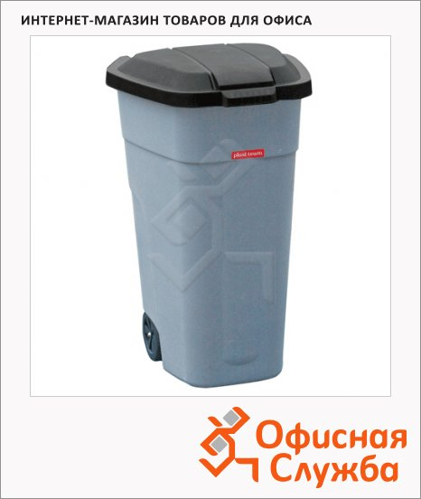 фото: Бак для мусора на колесах Plast Team Outdoor Bin 110л серый, PT9957