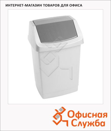 Контейнер для мусора Curver Click-IT 15л, с качающейся крышкой, графитовый, 175006