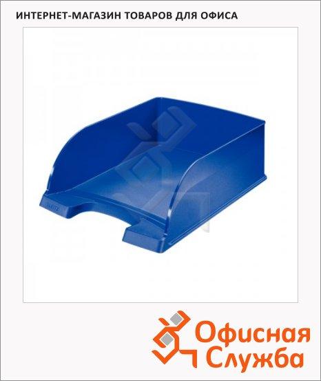 Лоток горизонтальный для бумаг Leitz Plus Jumbo A4, синий, 52330035