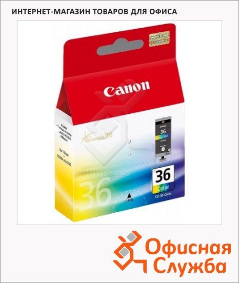 Картридж струйный Canon CLI-36, трехцветный + 100 листов бумаги GP-501