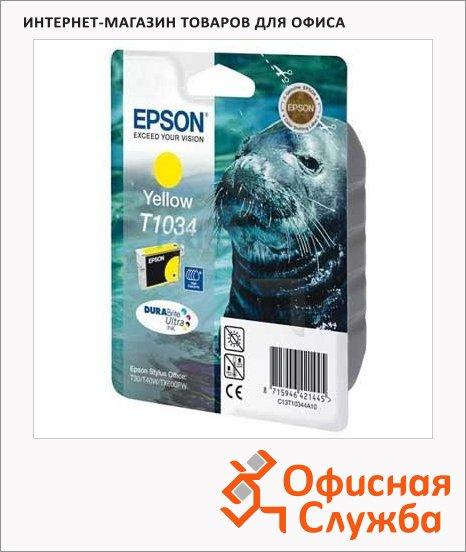 фото: Картридж струйный Epson C13T10344 A10 желтый