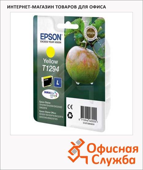 Картридж струйный Epson C13 T1291/92/93/94 4011 C13 T1294 4011, желтый
