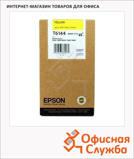 Картридж струйный Epson C13 T614400, желтый