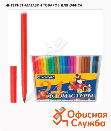 фото: Фломастеры для рисования Centropen Пингвины 7790 24 цвета смываемые