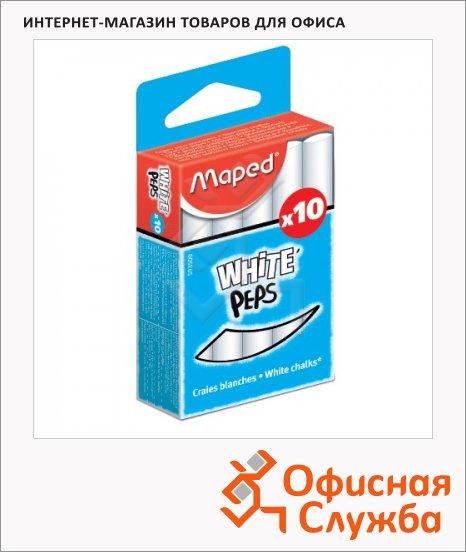 Набор мелков для асфальта Maped White'Peps белые, круглые, 10шт