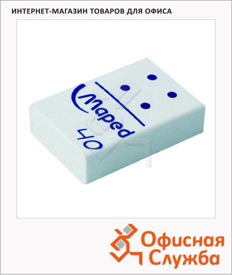 Ластик Maped Domino 60 32х22х9мм, белый, 511240