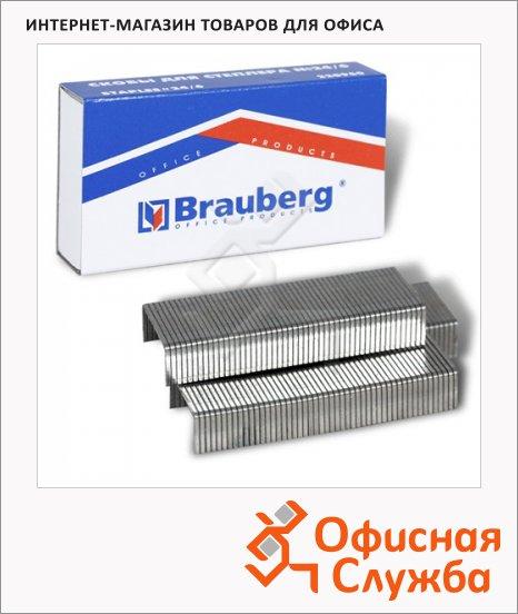 фото: Скобы для степлера Brauberg №24/6 оцинкованные, 1000 шт