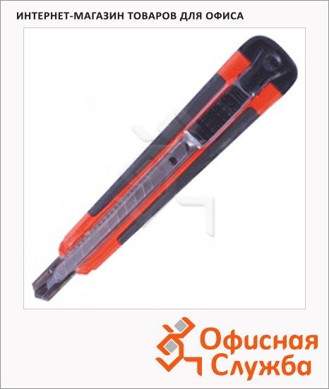 Нож канцелярский Erich Krause Arrow 18 мм, красно-черный