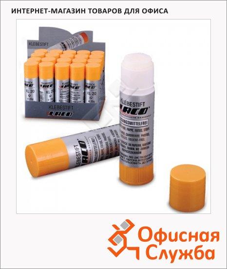 Клей-карандаш Laco 20г, без запаха, KL20
