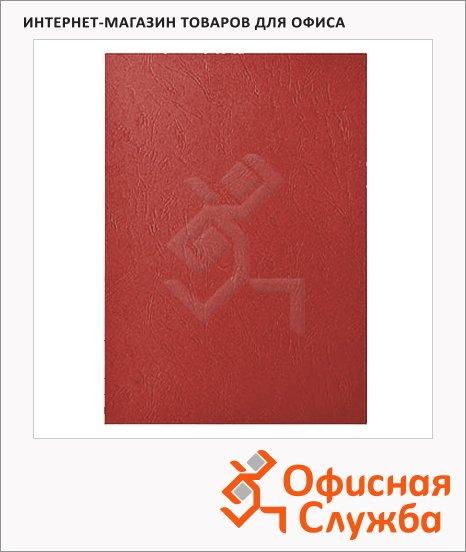 фото: Обложки для переплета картонные Gbc LeatherGrain красные А4, 250 г/кв.м, 100шт