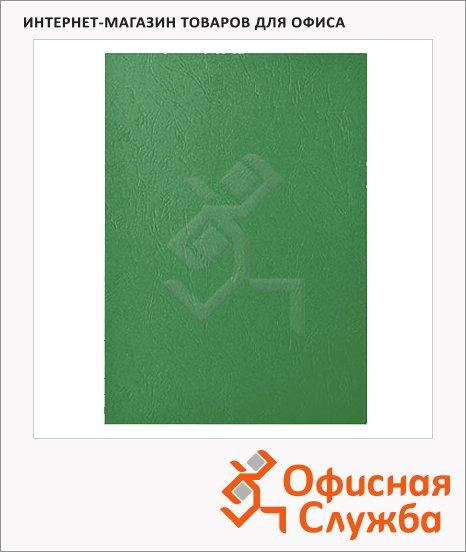 фото: Обложки для переплета картонные Gbc LeatherGrain зеленые А4, 250 г/кв.м, 100шт